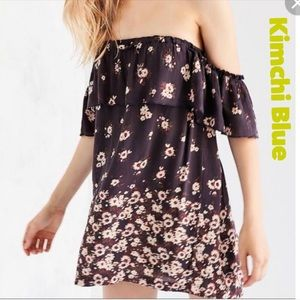 Urban Outfitters Kimchi Blue Off Shoulder Dress